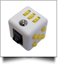 Fidget Cube  - WHITE/YELLOW - CLOSEOUT