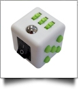 Fidget Cube  - WHITE/LIME