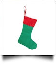 Blank Classic Christmas Stocking - GREEN with RED CUFF