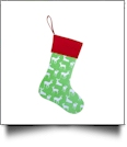 Blank Reindeer Christmas Stocking - GREEN with RED CUFF