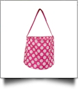 Monogrammable Easter Basket & Halloween Bucket Tote - PINK DOT