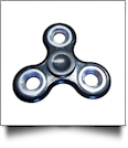 Fidget Spinner - BLACK/SILVER - CLOSEOUT
