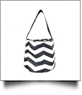 Monogrammable Easter Basket & Halloween Bucket Tote - BLACK CHEVRON