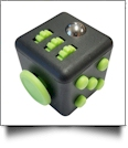 Fidget Cube  - BLACK/LIME - CLOSEOUT