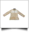 The Coral Palms™ Kid's Frosted Quarter-Zip Sherpa Pullover - TAN