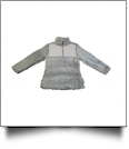 The Coral Palms™ Kid's Frosted Quarter-Zip Sherpa Pullover - GRAY