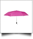 "Compact Foldable Umbrella with 34"" Diameter - FUCHSIA"