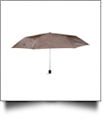 "Compact Foldable Umbrella with 34"" Diameter - BROWN"