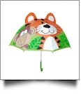 "Child's Character Umbrella with 24"" Diameter - TIGER & MONKEY"
