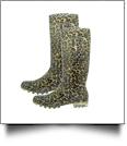 "13.5"" Women's Rain Boots - LEOPARD - CLOSEOUT"