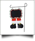 Double-Sided North Pole Garden Banner - SANTA BOOTS