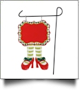 Double-Sided North Pole Garden Banner - GIRL ELF