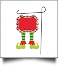 Double-Sided North Pole Garden Banner - BOY ELF