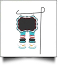 Double-Sided North Pole Garden Banner - SNOWMAN