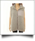 The Coral Palms™ Fleece-Lined Sherpa Vest - GRAY - CLOSEOUT