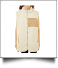 The Coral Palms™ Fleece-Lined Sherpa Vest - IVORY - CLOSEOUT
