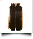 The Coral Palms™ Fleece-Lined Sherpa Vest - BLACK - CLOSEOUT
