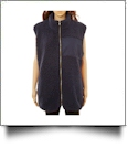 The Coral Palms™ Fleece-Lined Sherpa Vest - NAVY - CLOSEOUT