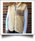 The Coral Palms™ Fleece-Lined Sherpa Vest - TAN