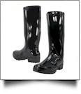 "13.5"" Women's Rain Boots - BLACK - CLOSEOUT"
