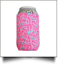 The Coral Palms� 12oz Neoprene Can Coolie  - RADIANT ROSES