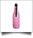 The Coral Palms® 12oz Long Neck Zipper Neoprene Bottle Coolie - RADIANT ROSES