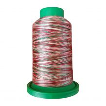 9864 Holly Berry Wreath Multicolor Variegated Isacord Embroidery Thread