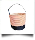 Monogrammable Easter Basket & Halloween Bucket Tote - ORANGE STRIPE