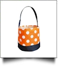 Monogrammable Easter Basket & Halloween Bucket Tote - ORANGE DOT