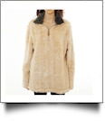 The Coral Palms� Frosted Quarter-Zip Sherpa Pullover NO FRONT PANELS - TAN