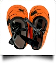 Halloween Print Baby Crib Shoes - SPIDER w/ BOW - CLOSEOUT