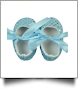 Sequin Baby Crib Shoes - LIGHT BLUE - CLOSEOUT