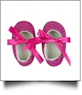 Sequin Baby Crib Shoes - HOT PINK - CLOSEOUT