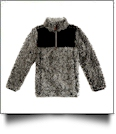 The Coral Palms™ Kid's Frosted Quarter-Zip Sherpa Pullover - BLACK