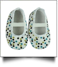 Multi-Dot Print Baby Crib Shoes - WHITE - CLOSEOUT