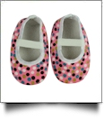 Multi-Dot Print Baby Crib Shoes - PINK - CLOSEOUT