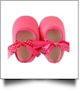 Soft & Fuzzy Baby Crib Shoes - HOT PINK - CLOSEOUT