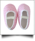 Chevron Print Baby Crib Shoes - LIGHT PINK - CLOSEOUT