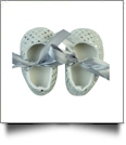 Shiny Sequin Baby Crib Shoes - SILVER - CLOSEOUT