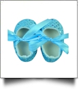Shiny Sequin Baby Crib Shoes - TURQUOISE - CLOSEOUT