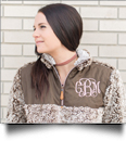 The Coral Palms� Frosted Quarter-Zip Sherpa Pullover - BROWN - PRE-ORDER