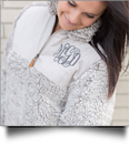 The Coral Palms� Frosted Quarter-Zip Sherpa Pullover - GRAY