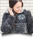 The Coral Palms� Frosted Quarter-Zip Sherpa Pullover - BLACK