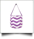 Monogrammable Easter Basket & Halloween Bucket Tote - PURPLE CHEVRON