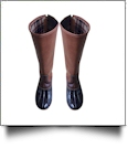 The Coral Palms™ Tall Plaid-Lined Duck Boots - BROWN - PRE-ORDER