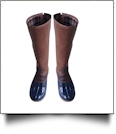 The Coral Palms™ Tall Plaid-Lined Duck Boots - NAVY - PRE-ORDER