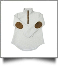 Diamond Quilted Patchy Pullover Tunic - IVORY with MOCHA - PRE-ORDER