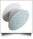 Cell Phone Pop Stand in Round Aqua Print