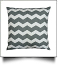 Throw Pillow Cover in Jumbo Chevron Print - GRAY