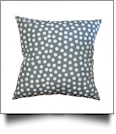 Throw Pillow Cover in Polka Dot Print - GRAY